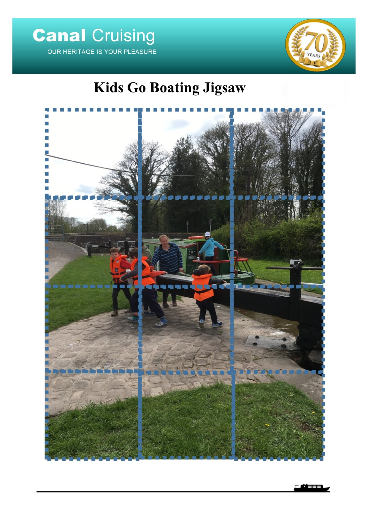 Kids go boating jigsaw