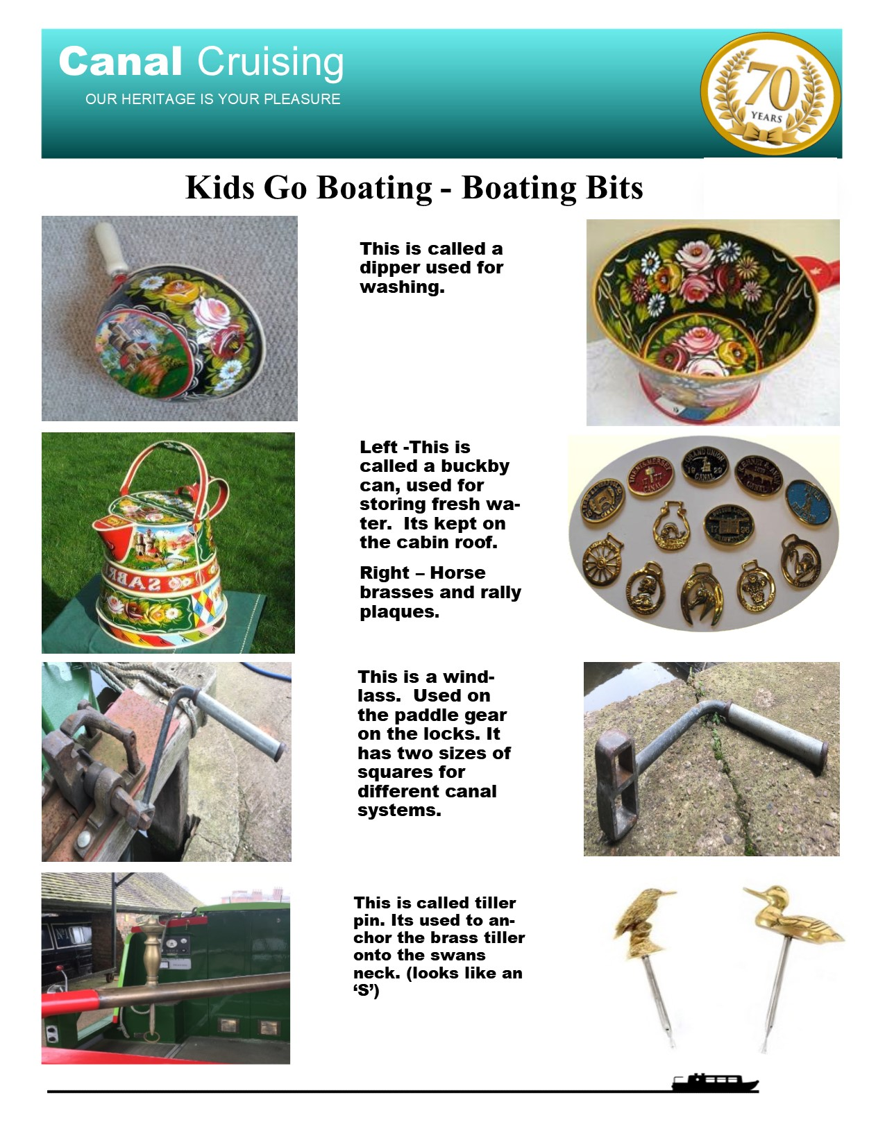 Kids go boating boating bits