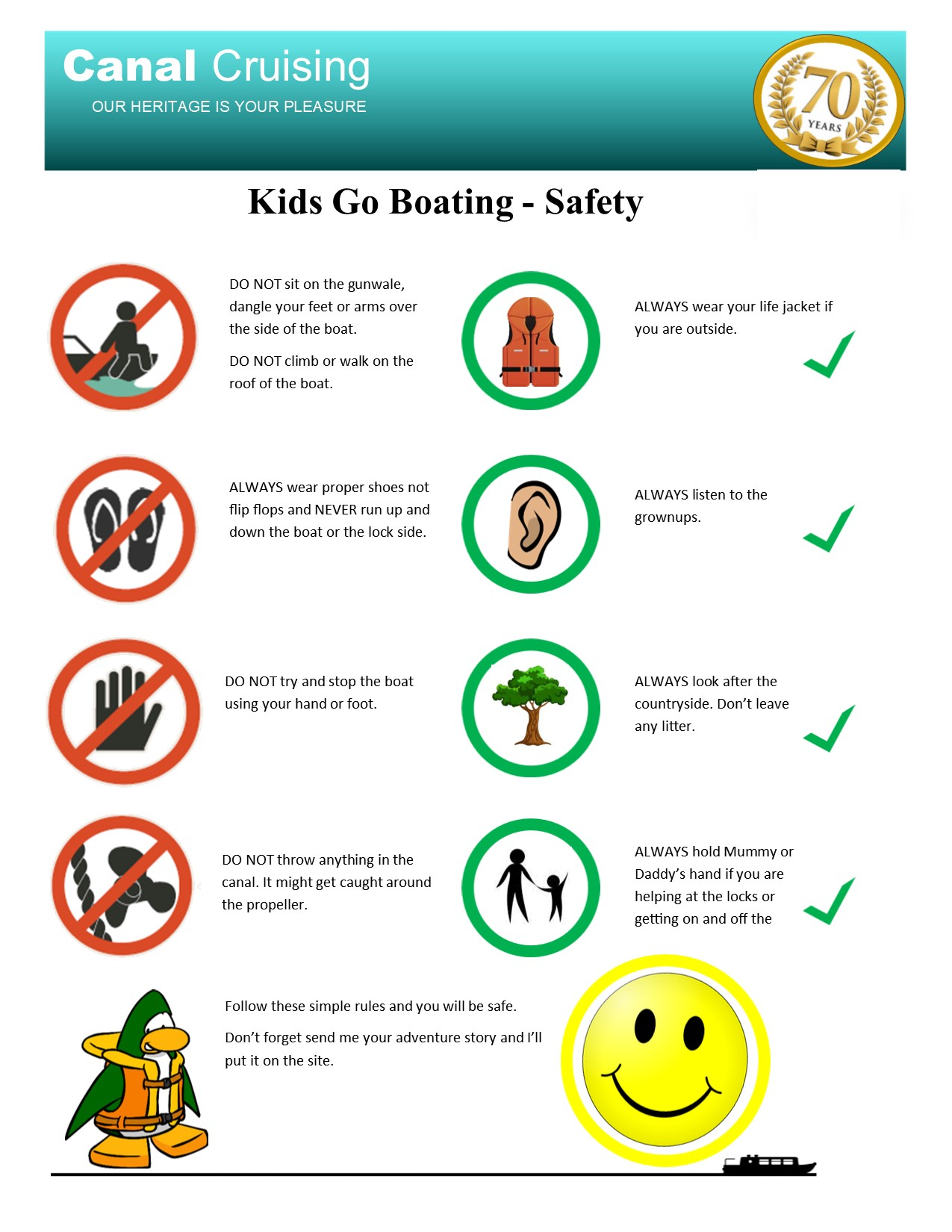 Kids go boating safety