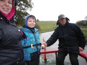 Josh Steering with Grandads Help