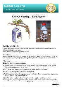 Kids Go Boating Bird Feeder